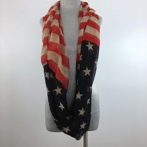 Infinity American Flag Long Scarf Independence Day